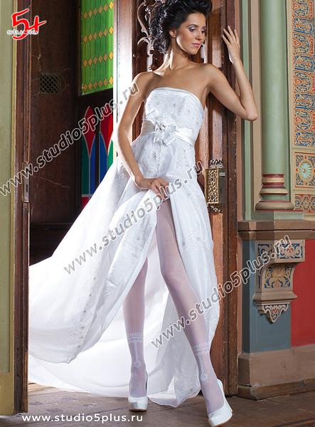 Свадебные колготки белые купить