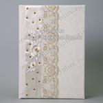 Книга пожеланий на свадьбу белая ручной работы дизайнерская