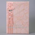 Свадебная книга пожеланий молодоженам с бантиком и стразами купить
